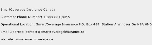 SmartCoverage Insurance Canada Phone Number Customer Service