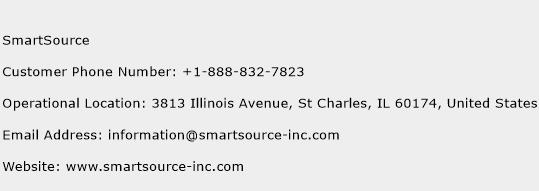 SmartSource Phone Number Customer Service