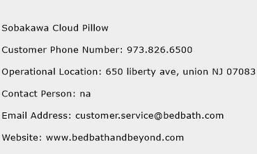 Sobakawa Cloud Pillow Phone Number Customer Service