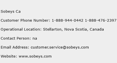 Sobeys Ca Phone Number Customer Service