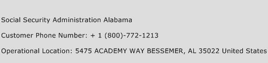 Social Security Administration Alabama Phone Number Customer Service