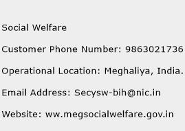 Social Welfare Phone Number Customer Service