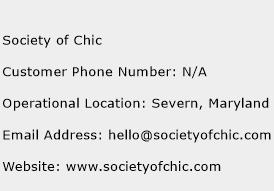 Society of Chic Phone Number Customer Service