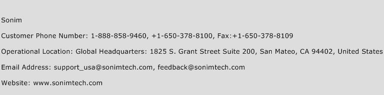 Sonim Phone Number Customer Service