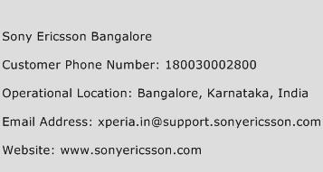 Sony Ericsson Bangalore Phone Number Customer Service