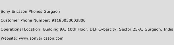 Sony Ericsson Phones Gurgaon Phone Number Customer Service
