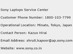 Sony Laptops Service Center Phone Number Customer Service