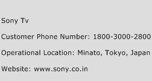 Sony TV Phone Number Customer Service
