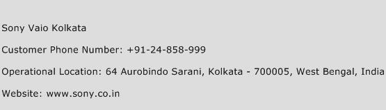 Sony Vaio Kolkata Phone Number Customer Service