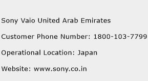 Sony Vaio United Arab Emirates Phone Number Customer Service