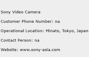 Sony Video Camera Phone Number Customer Service