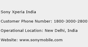 Sony Xperia India Phone Number Customer Service