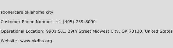 Soonercare Oklahoma City Phone Number Customer Service