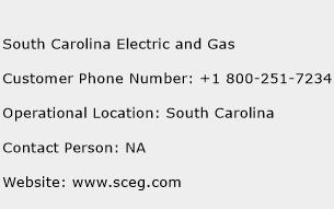 South Carolina Electric and Gas Phone Number Customer Service