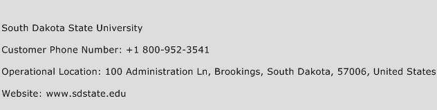 South Dakota State University Phone Number Customer Service