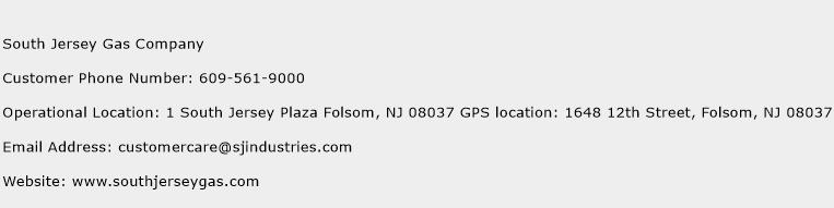 South Jersey Gas Company Phone Number Customer Service