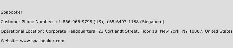 Spabooker Phone Number Customer Service