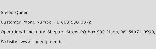 Speed Queen Phone Number Customer Service
