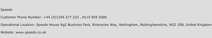 Speedo Phone Number Customer Service