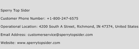 Sperry Top Sider Phone Number Customer Service