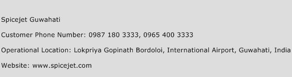 Spicejet Guwahati Phone Number Customer Service