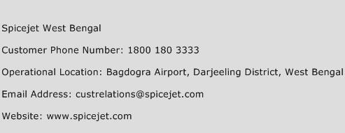 Spicejet West Bengal Phone Number Customer Service