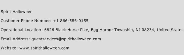 Spirit Halloween Phone Number Customer Service