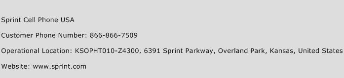 Sprint Cell Phone USA Phone Number Customer Service