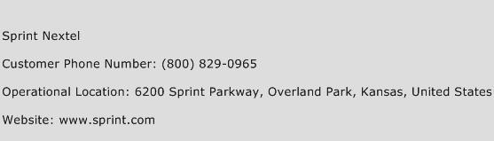 Sprint Nextel Phone Number Customer Service