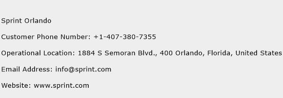 click here to view sprint orlando customer service phone numbers