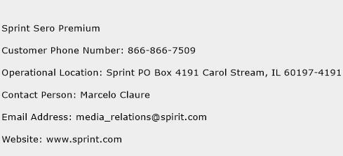 Sprint Sero Premium Phone Number Customer Service