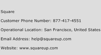 Square Phone Number Customer Service