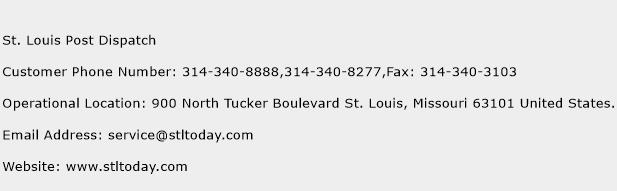 St. Louis Post Dispatch Phone Number Customer Service