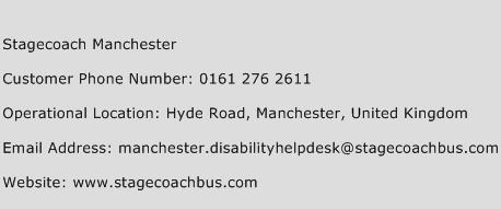 Stagecoach Manchester Phone Number Customer Service