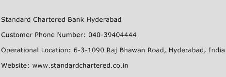 Standard Chartered Bank Hyderabad Phone Number Customer Service