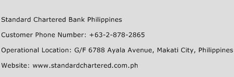 Standard Chartered Bank Philippines Phone Number Customer Service