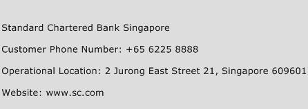 Standard Chartered Bank Singapore Phone Number Customer Service