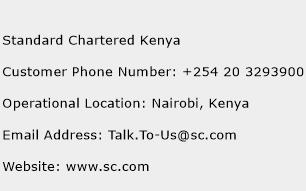 Standard Chartered Kenya Phone Number Customer Service