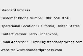 Standard Process Phone Number Customer Service