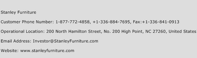 Stanley Furniture Phone Number Customer Service