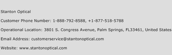 Stanton Optical Phone Number Customer Service