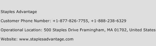 Staples Advantage Phone Number Customer Service
