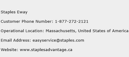 Staples Eway Phone Number Customer Service