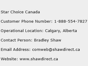 Star Choice Canada Phone Number Customer Service