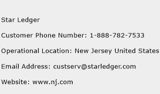Star Ledger Phone Number Customer Service