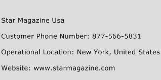 Star Magazine Usa Phone Number Customer Service