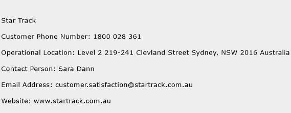 Star Track Phone Number Customer Service