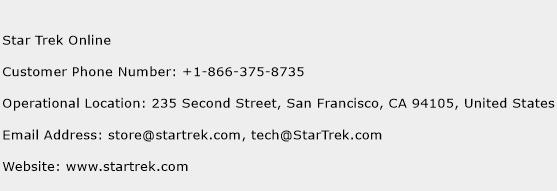Star Trek Online Phone Number Customer Service