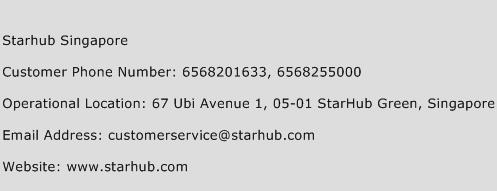 StarHub Singapore Phone Number Customer Service