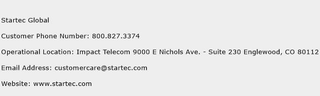 Startec Global Phone Number Customer Service